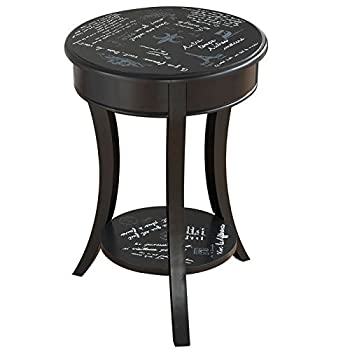Parisian Script Accent Table in Black