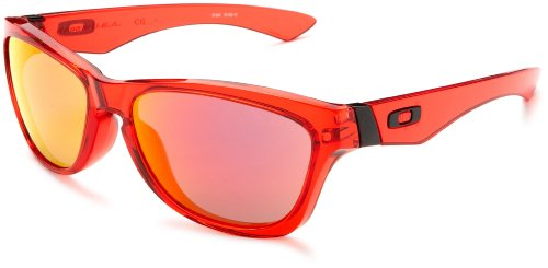 Oakley Men's Jupiter O-Matter Iridium Sunglasses,Crystal Red Frame/Ruby Lens