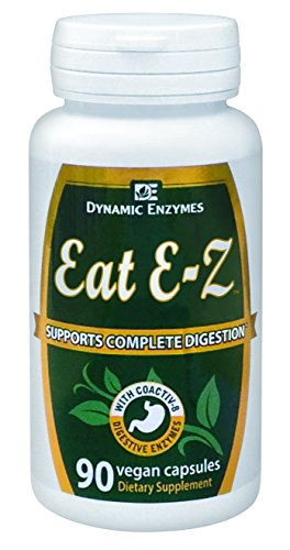 Eat E-Z - 90 Vegan Capsules - Supports Complete Digestion - Supports Nutrient Absorption - All Natural Digestive Enzymes - Dynamic Enzymes - Enzyme Manufacturer - 100% SATISFACTION GUARANTEED (Natural Dynamics compare prices)