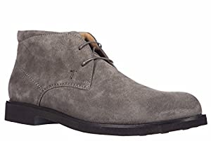Tod's men's suede desert boots lace up ankle boots rubber light grey US size 8.5 XXM0WP00D80RE0B401