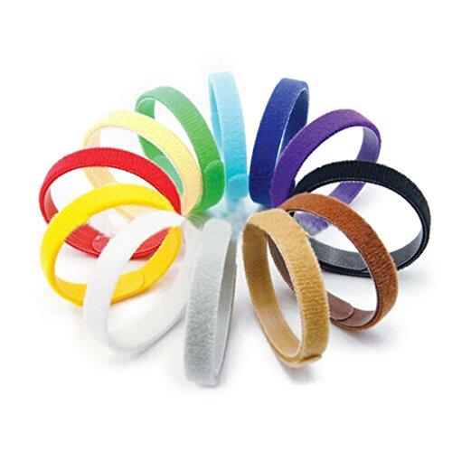 Tinksky 12 colori Velcro regolabile cucciolo ID bande collari