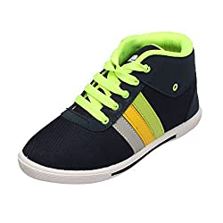Leewon 3-lines Men's Canvas Sneakers (Size : 9 )