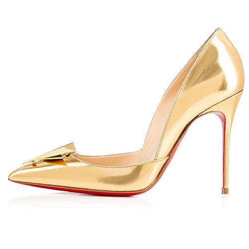 Zapatos dorados para mujer waU3W