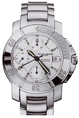 Baume Mercier Men's Capeland S Automatic Chronograph Steel Watch MOA08402