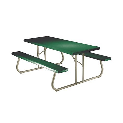Lifetime 22123 6-Person Folding Picnic Table, Hunter Green