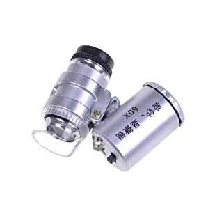 BestDealUSA 60X Microscope Loupe Jewelry LED Magnifier