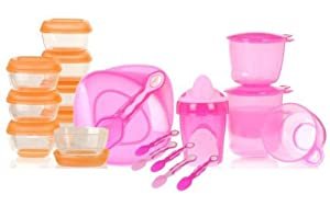 Vital Baby - Kit de destete (recipientes, vasos, cucharas), color rosa por VITAL AUDIO