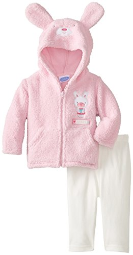 BON BEBE Baby-Girls Newborn Sweet Bunny Two-Piece Jacket And Pant Set