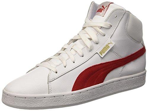 Puma 1948 Mid L, Sneaker Man (Basketball), Bianco/Rosso (Barbados Cherry), 9