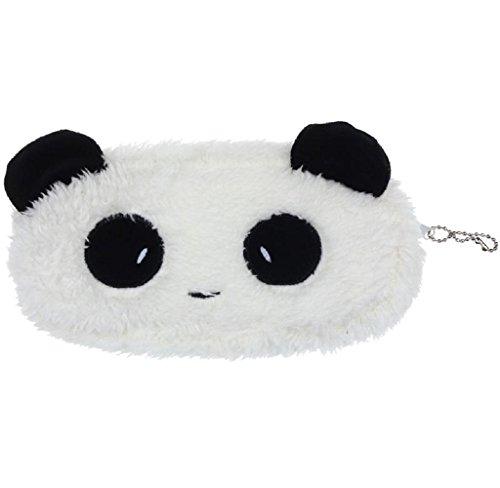 Fortan 1PC Sveglio della peluche del panda di caso di matita della penna cosmetico di trucco del sacchetto della moneta del raccoglitore della borsa