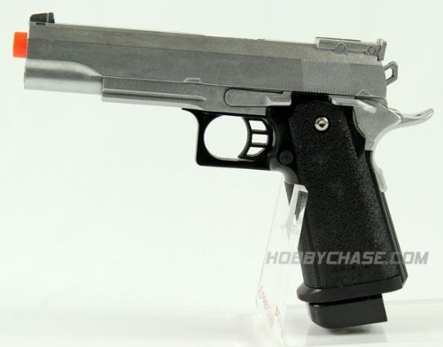 G6 Spring Metal 1911 Silver .45 Style Airsoft Pistol FPS-320 Airsoft Gun