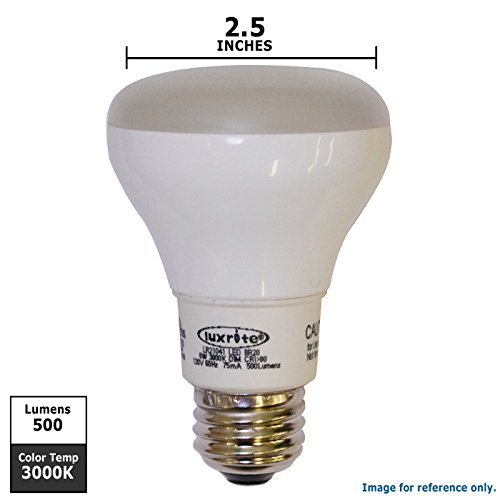 Luxrite 8W 120V R20 3000K Dimmable Led Light Bulb - 50R20 Replacement