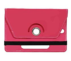 Pink Stylabs Tablet Book Flip Case Cover For Hp 7 Plus (Universal)