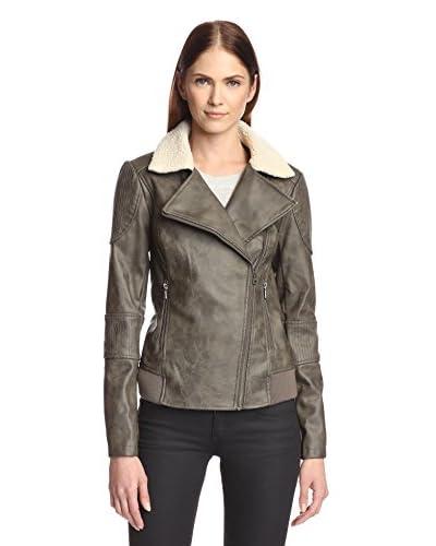 Sam Edelman Women's Lauren Faux Leather Moto Jacket