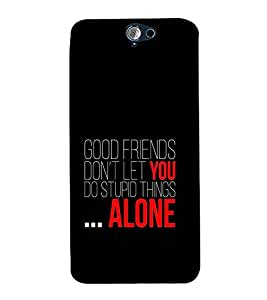 Fuson Premium Printed Hard Plastic Back Case Cover for HTC One A9