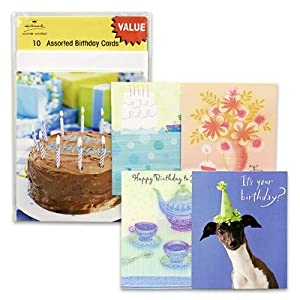 10pk Assorted Hallmark Warm Wishes Birthday Cards