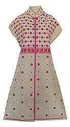 Phulkari Craft Women's Cotton Unstitched Kurti (PC0009_Beige_Free Size)