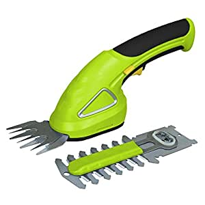 Serenelife pslhtm20 cordless handheld grass for Electric garden scissors