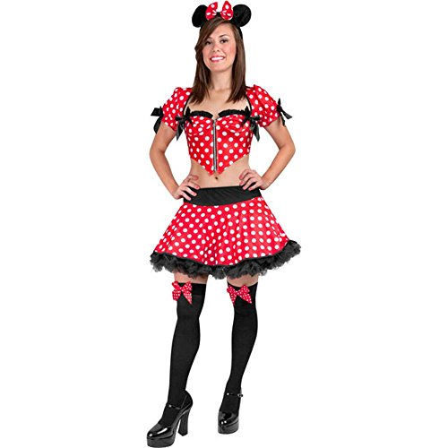 Sexy Minnie Mouse Adult Costume (Size: Small 4-8)