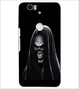 PrintDhaba Skeleton D-2017 Back Case Cover for HUAWEI NEXUS 6P (Multi-Coloured)