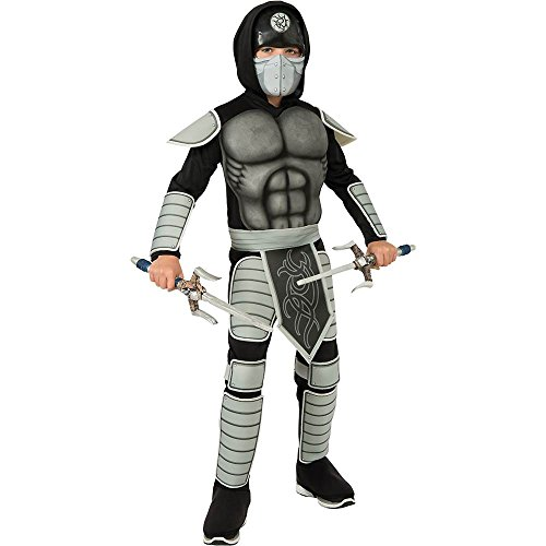 Grey Stealth Ninja Kids Costume