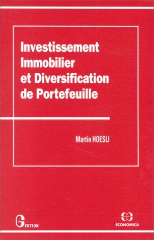 Investissement immobilier et diversification de portefeuille gratuit