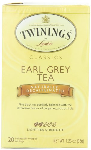 Twinings Earl Grey Decaf Tea, Tea Bags, 20-Count Boxes (Pack of 6)