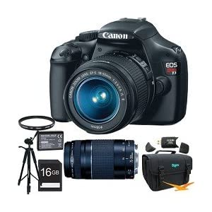 Canon EOS Rebel T3 SLR Digital Camera w/ 18-55mm & 75-300mm Ultimate Rebel Experience