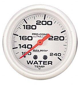 Auto Meter 4432 Ultra-Lite Mechanical Water Temperature Gauge