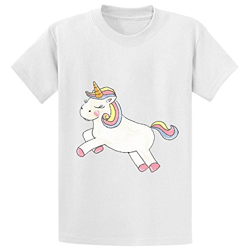Vanky Unicorn Love Youth Customized Crew Neck T Shirts White