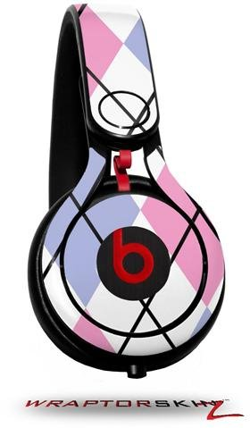 Argyle Pink And Blue Decal Style Skin (Fits Genuine Beats Mixr Headphones - Headphones Not Included)