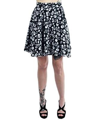 Rock Steady Womens Skulls In Love Skirt by Rock Steady Womens