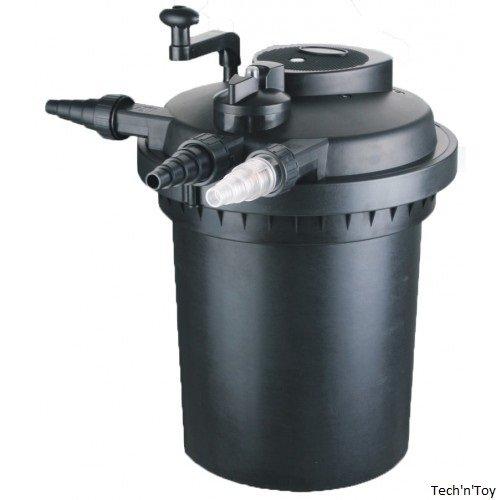 Pressurized bio pond filter w 11w uv sterilizer up to 2600 for Cleaning pond filter