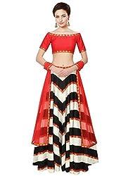 Lengha Choli by Kmozi (Red) (Navratri Special)