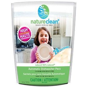 Automatic Dish Pacs -432 gr Brand: Nature Clean - Canadian (Nice Dishwasher Packs compare prices)