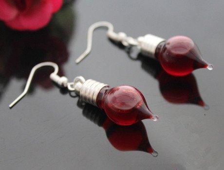 On Sale Love Potion - Vial Earrings True Blood Vampire Bottle Earrings