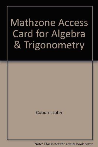 MathZone Access Card for Algebra & Trigonometry