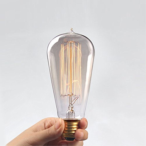 Kiven®1 Pcs 40w E27 Edison Vintage Light Bulb Decoration Antique Incandescent Bulb (Tungsten Lamp)
