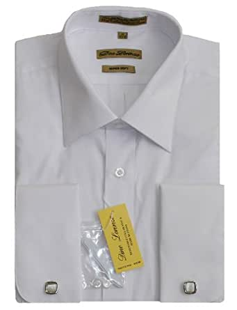 White French Cuff Dress Shirt With Cufflinks At Amazon Men