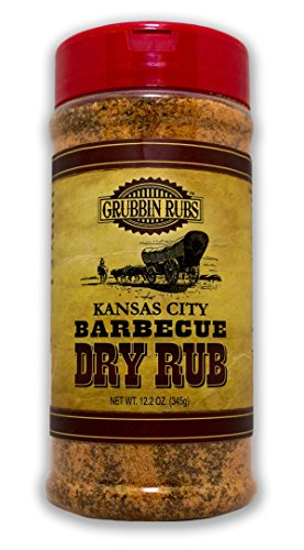 Kansas City Barbecue Dry Rub By Grubbin Rubs for Beef, Pork or Poultry, All Natural, No Preservatives, No MSG, Gluten Free (Kansas City) (Dry Meat Rubs compare prices)