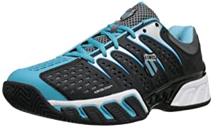 K-Swiss Women's Bigshot II Tennis Shoe,Black/Fiji Blue,11 M US