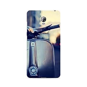 Motivatebox- Vespa Silver Premium Printed Case For Lenovo Vibe P1 -Matte Polycarbonate 3D Hard case Mobile Cell Phone Protective BACK CASE COVER. Hard Shockproof Scratch-