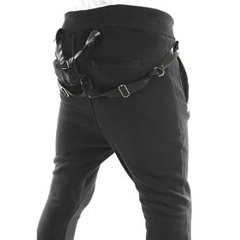 MALCOM_BOY BK Pantalon Sarouel Enfant avec bretelles Rivaldi