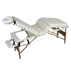 Tectake lettino massaggi 4 zone 7cm imbottitura estetista for Lettino estetista portatile