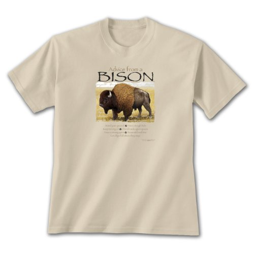 Advice From A Bison ~ Sand T-Shirt