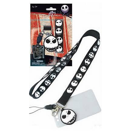 The Nightmare Before Christmas Lanyard Keychain & ID Card Holder