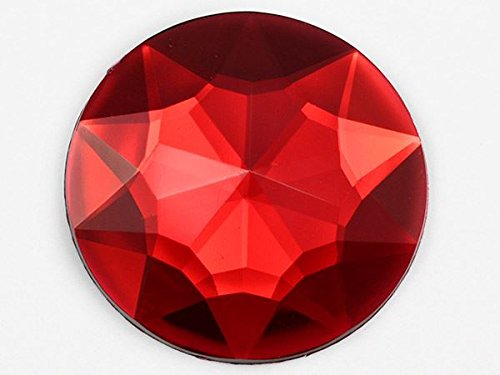 43mm Red Ruby H103 Flat Back Round Acrylic Gems High Quality Pro Grade Individually Wrapped - 4 Pieces (Flat Back Gem compare prices)