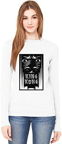King kong movie T-Shirt da Donna a Maniche Lunghe Long-Sleeve T-shirt For Women| 100% Premium Cotton Ultimate Comfort X-Large