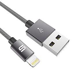 Lightning Cable [Ultra Durable] Syncwire Nylon Braided iPhone Charger [Apple MFi Certified] - Lifetime Guarantee Series - for iPhone 6S Plus 6 Plus SE 5S 5C 5, iPad 2 3 4 Mini Air Pro, iPod - 3.3 ft Space Gray