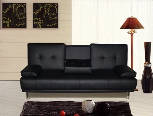 manhattan-3-seater-sofa-bed-with-cup-holders-black
